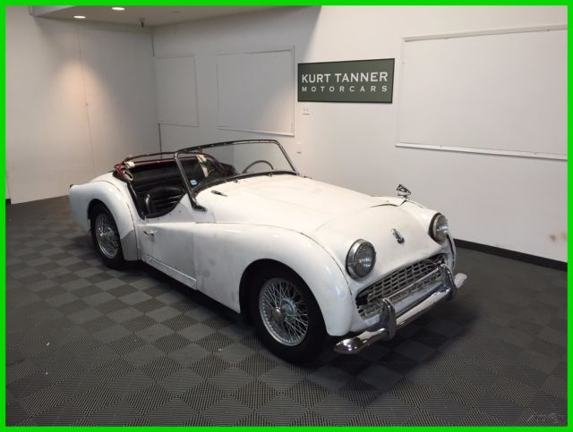 1961 Triumph Tr3a 4 Speed Wire Wheels Complete Car For Restoration