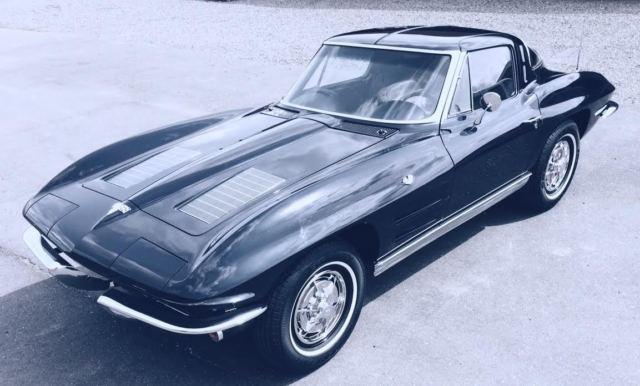 1963 daytona blue corvette split window coupe for 1963 corvette split window model car