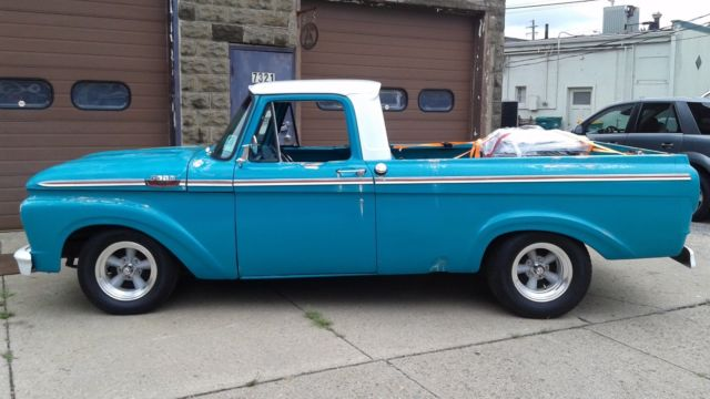 1963 ford f100 short bed 6cyl 3on tree new drop axel rims. Black Bedroom Furniture Sets. Home Design Ideas