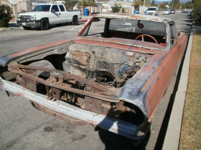 1964 Chevrolet El Camino Base Standard Cab Pickup 2 Door Restoration Project