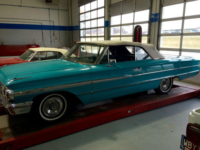 1964 Ford (USA) Galaxie 500XL Sunliner (Convertible) full range specs