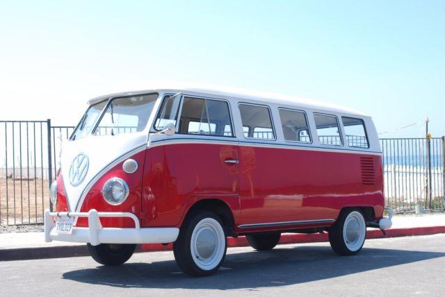 1964 german volkswagen bus type 1 vanagon luxury microbus for 13 window vw bus