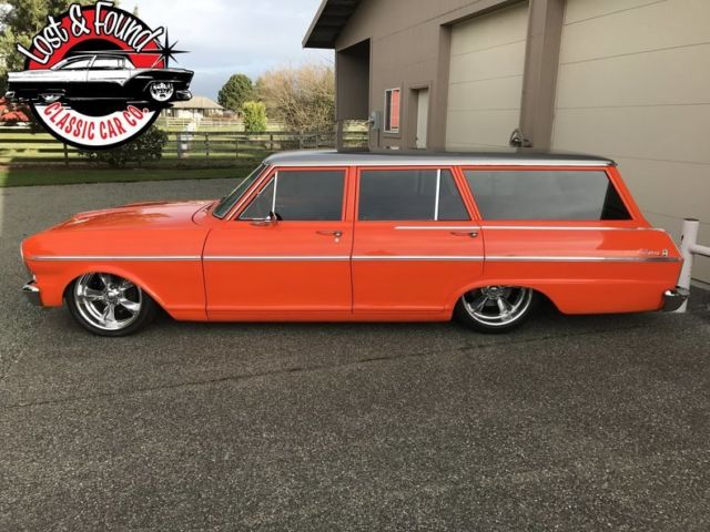 1965 Mustang Station Wagon >> 1965 Chevrolet Nova 2 Wagon Pro Touring 3700 Miles Orange (pearl) 350 V8 5 spe