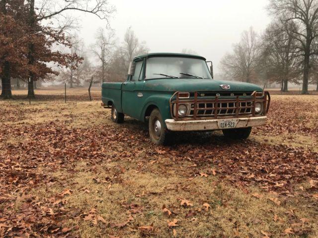 1965 ford f100 all original texas truck inline 6 short wide fleetside driver. Black Bedroom Furniture Sets. Home Design Ideas