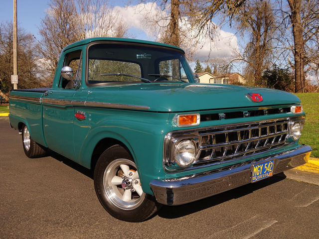 1965 Ford F100 Holly Green 302 V8 C4 Auto Ps Pdb