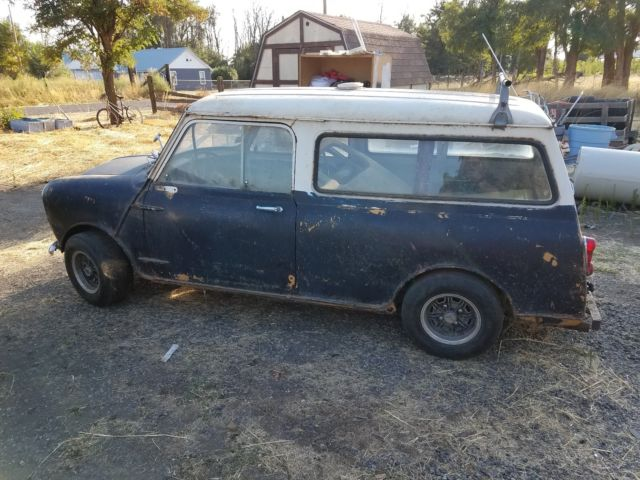 1966 austin mini van project car with extra parts and pieces. Black Bedroom Furniture Sets. Home Design Ideas