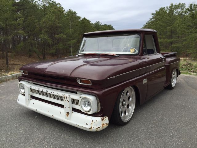 Chevy Valve Covers 1966 Chevy C10 Stepside Airbagged SBC RestoMod RatRod ...