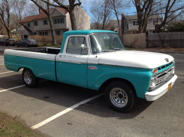 1966 Ford F100 Custom Cab V8 Long Bed Pick Up Truck Pickup F 100