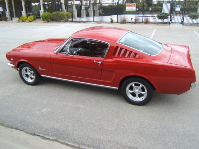 1966 Mustang Fastback 2 2 Candy Apple Red 289 Auto