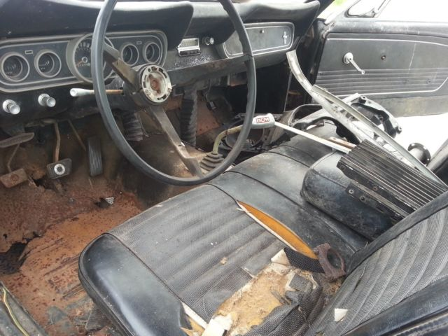 1966 Mustang Gt 2 2 Rare Bench Seat 3 Speed Rough Shape