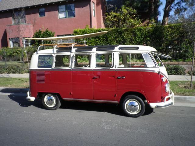 1967 21 Window Vw Bus Samba