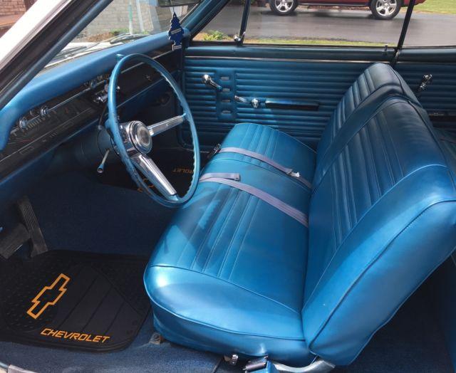 1967 chevelle malibu 327 auto trans white ext blue interior. Black Bedroom Furniture Sets. Home Design Ideas