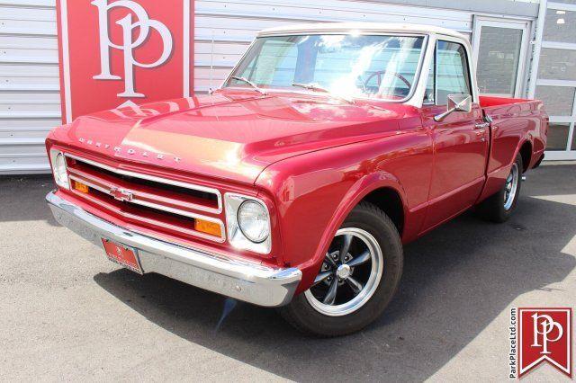 1967 chevrolet c10 pickup truck red metallic and white