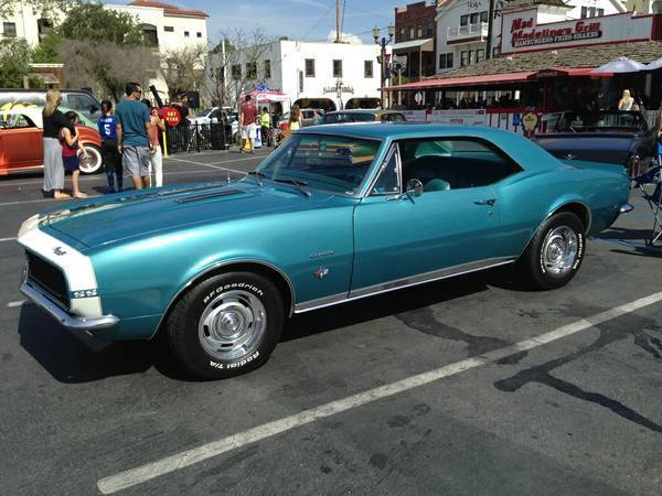 1967 Chevrolet Camaro Ss Rs Emerald Turquoise Numbers
