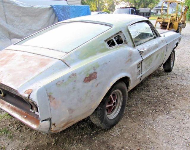 1967 Ford Mustang Fastback Project Car For Sale: 1967 FORD MUSTANG FASTBACK S CODE 390 4 SPEED PROJECT CAR