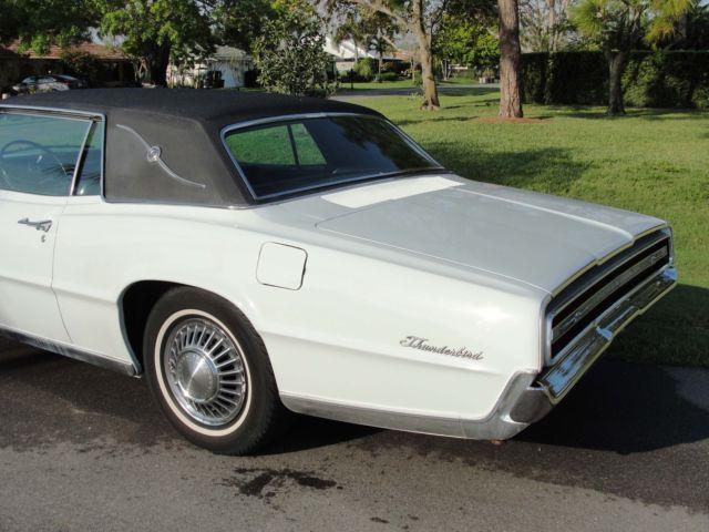 1967 FORD THUNDERBIRD LANDAU WHITE W BLACK 2 DOOR COUPE HARDTOP 390 V8 T BIRD