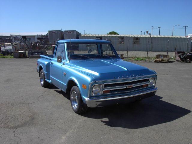 1968 68 Chevy Chevrolet C10 Pickup Truck Short Box Stepside 350 4 Speed 1  2 Ton