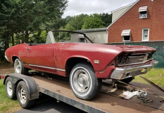 1968 Chevy Chevelle Malibu Convertible Project Car For