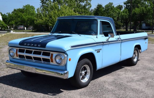 1968 Dodge D-100 Pickup, Slant 6 with Clifford Engineering ...