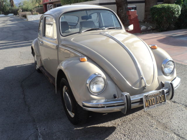 1968 v w bug beetle savannah beige rust free solid bug look 4 speed. Black Bedroom Furniture Sets. Home Design Ideas