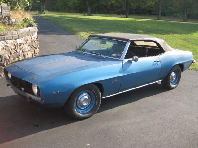 Car Auctions Ny >> 1969 Camaro Convertible Lemans Blue Power Top