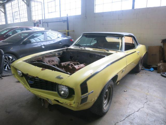 1969 Chevrolet Camaro Convertible X11 V8 Daytona Yellow ...