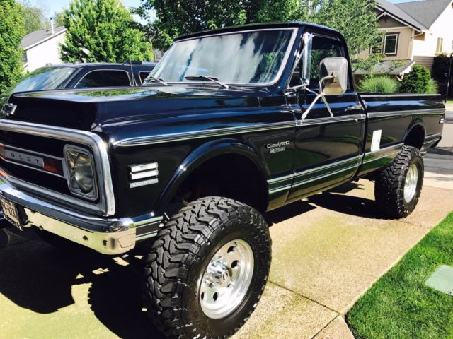 202211 1969 Chevrolet K20 Cheyenne 454 4x4 New Paint Lifted Chevy C10 on 1972 gmc 4x4 interior