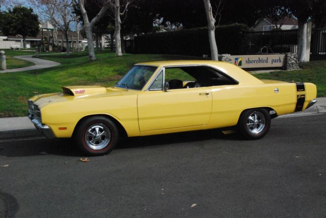 Thought differently, 1969 dodge dart swinger yellow join told