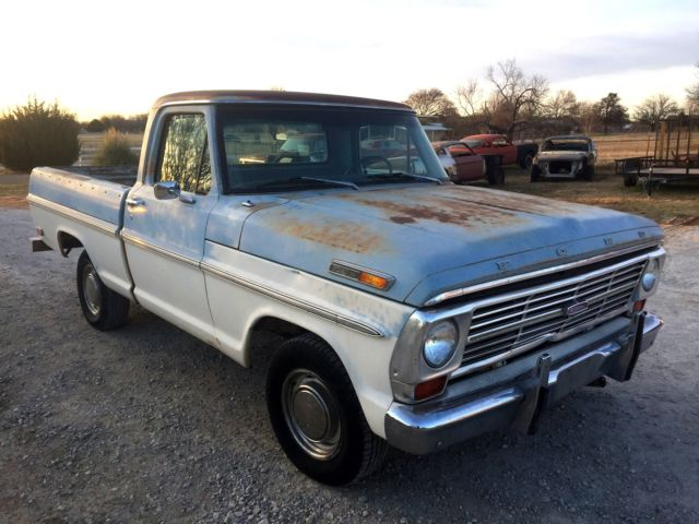 1969 ford f100 ranger short bed 422hp texas patina pickup. Black Bedroom Furniture Sets. Home Design Ideas