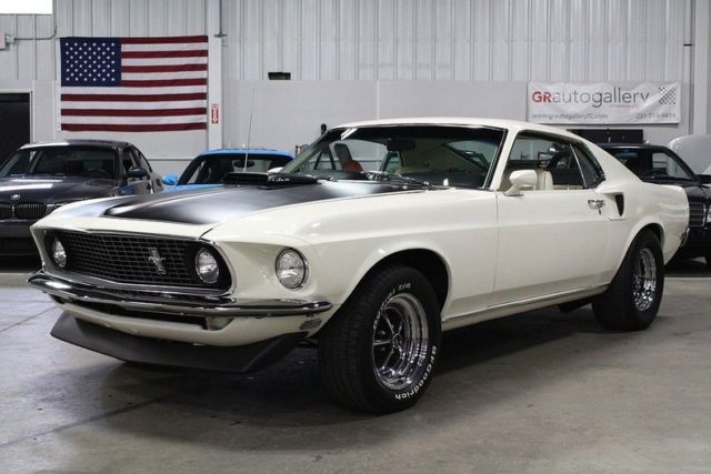 1969 ford mustang mach 1 57547 miles white coupe 428 super. Black Bedroom Furniture Sets. Home Design Ideas