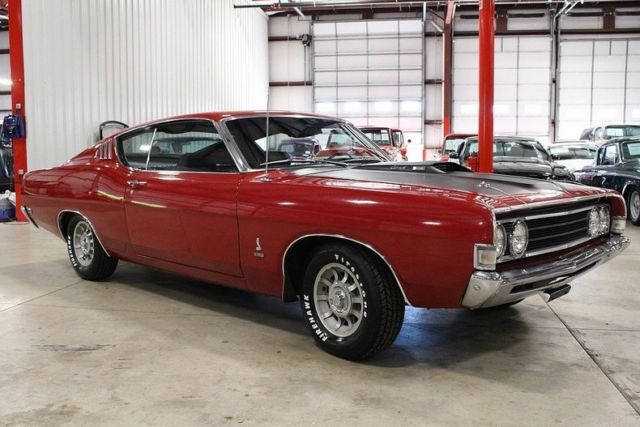 1969 ford torino cobra 50713 miles candy apple red coupe. Black Bedroom Furniture Sets. Home Design Ideas