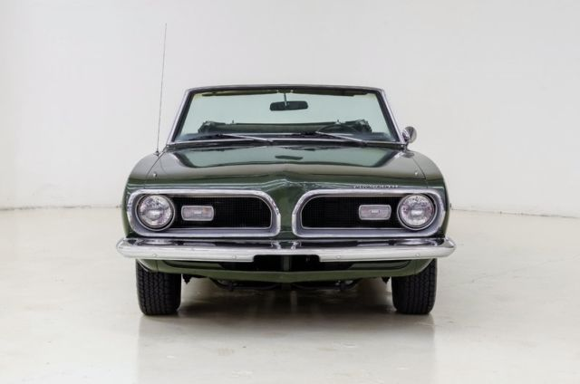1969 plymouth barracuda 54954 miles green coupe 318 v8 3 spd auto. Black Bedroom Furniture Sets. Home Design Ideas