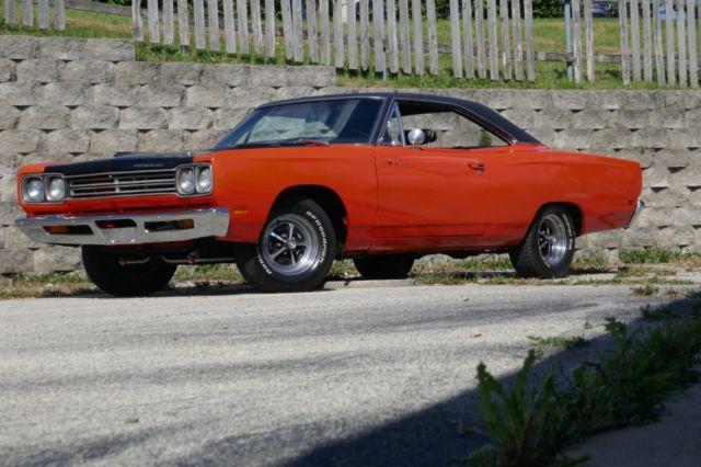 1969 Plymouth Road Runner Real H Code 383 Hemi Orange