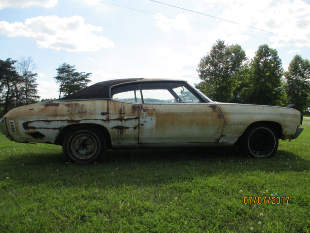 1970 chevelle malibu numbers matching all original ps pb at barn find 36 years