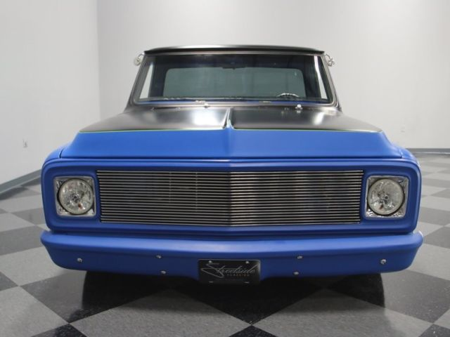 1970 Chevrolet C10 1501 Miles Satin Blue Pickup Truck LS1 V8 4 Speed Automatic