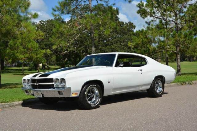 1970 Chevrolet Chevelle SS 23,242 Miles White Coupe 454 Manual