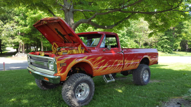 1970 Chevy K-20, 4x4 lifted, custom paint,