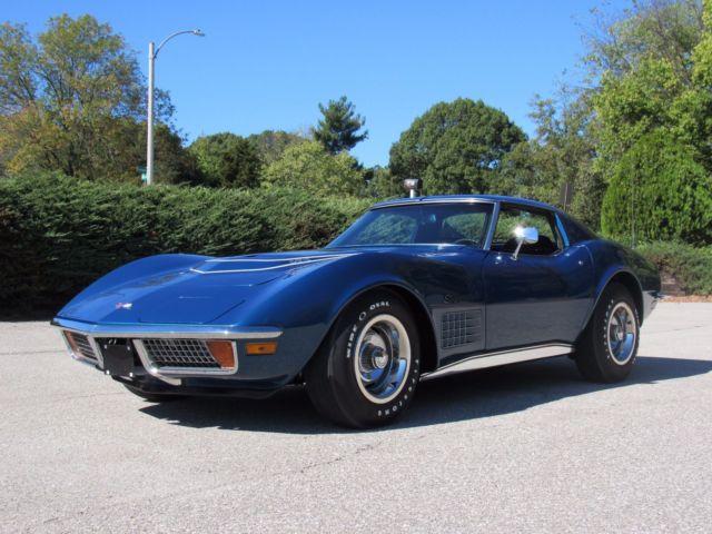 Corvette Lt Number Match Horse Bridgehampton Blue Stingray