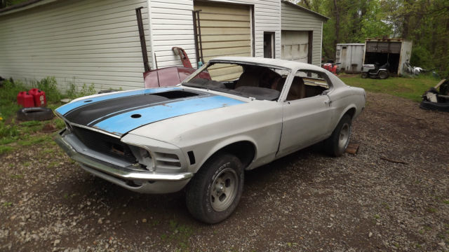 1970 ford mustang sportsroof fastback project car includes new parts mach 1 more. Black Bedroom Furniture Sets. Home Design Ideas