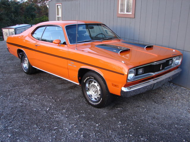 1970 plymouth duster factory 340 h code 39 s match real vitamin c car show ready. Black Bedroom Furniture Sets. Home Design Ideas
