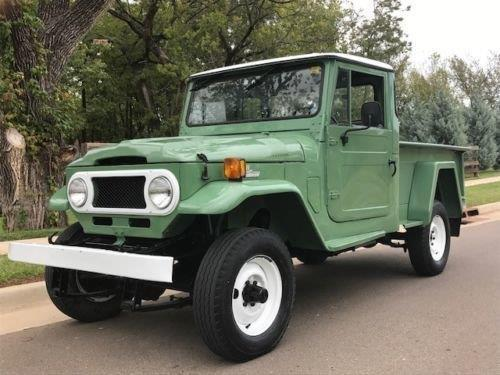 1970 toyota land cruiser 3795 miles green pickup 4 cyl 3 8 manual. Black Bedroom Furniture Sets. Home Design Ideas