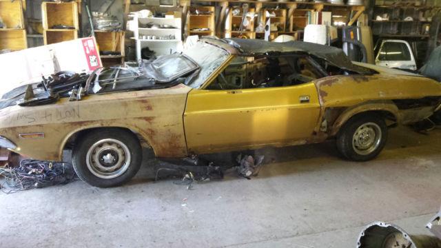 1971 Dodge Challenger Project Car For Sale >> 1971 Dodge Challenger Convertible project car Mopar roller ...