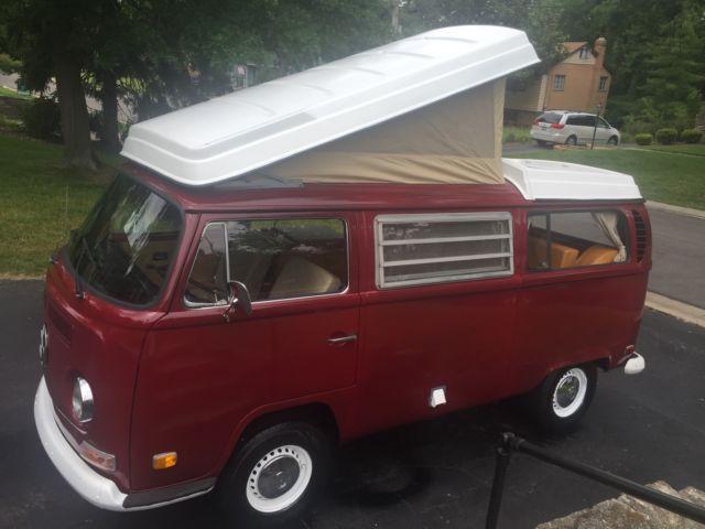1971 Volkswagen Westfalia Pop Top Camper Van Bus