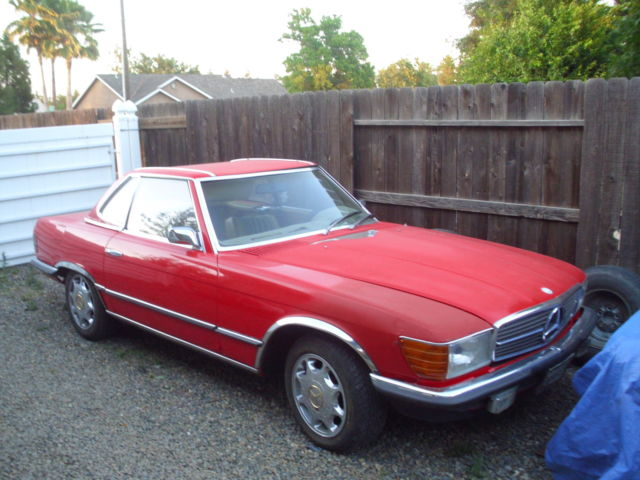 1972 mercedes 350 sl convertible needs restoration runs. Black Bedroom Furniture Sets. Home Design Ideas