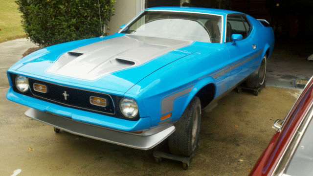 1972 mustang mach 1 grabber blue fastback beautiful. Black Bedroom Furniture Sets. Home Design Ideas