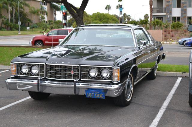 1973 Ford LTD Brougham *** Black on Black, All Original ...