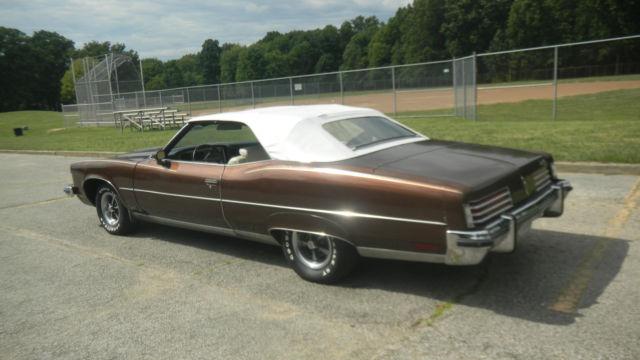 1973 Pontiac Grandville Convertable Rare W Code 455ci V