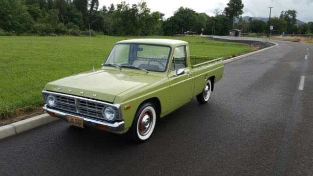 1974 Ford Courier Pickup Mini Truck Lime Green Retro