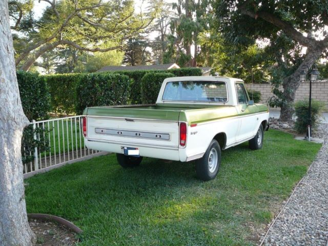 1974 ford f 100 ranger short bed fleet side original paint ca truck good driver. Black Bedroom Furniture Sets. Home Design Ideas