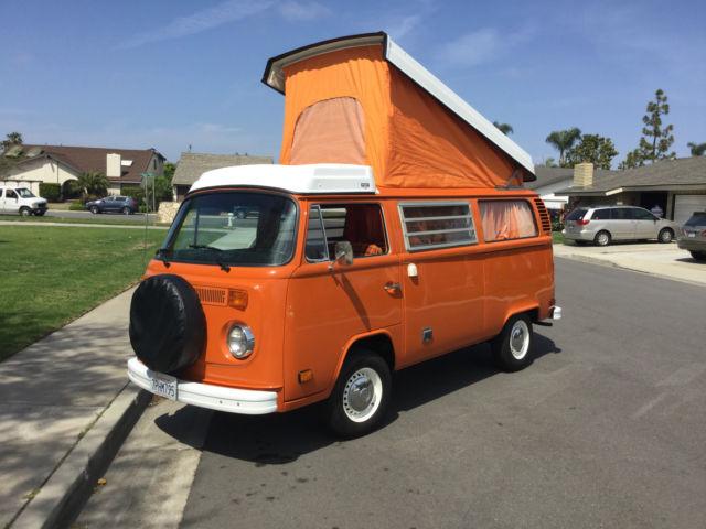 1974 Volkswagen Westfalia Camper Bus Vw Restored Original